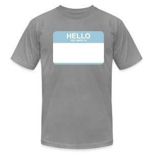 CF Hello - My Name is AWESOME - Men's Fine Jersey T-Shirt