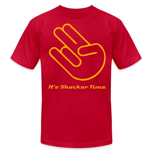 The Shocker Simple T-(Orange Logo) - Men's Fine Jersey T-Shirt