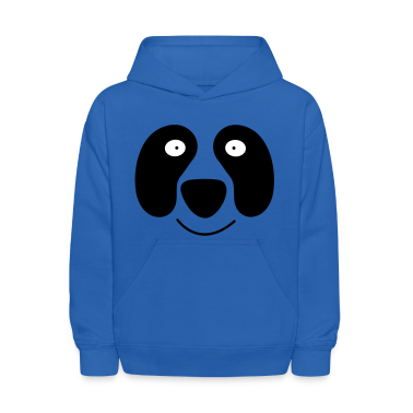 Royal blue panda face with smile Sweatshirts