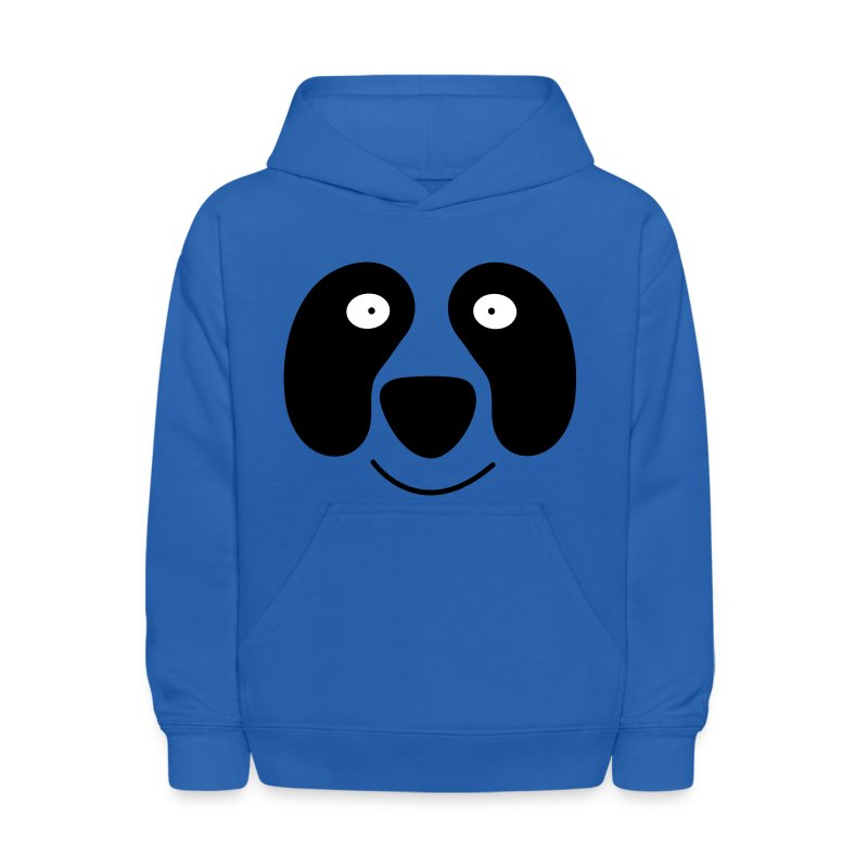 Royal blue panda face with smile Sweatshirts - Kids' Hoodie