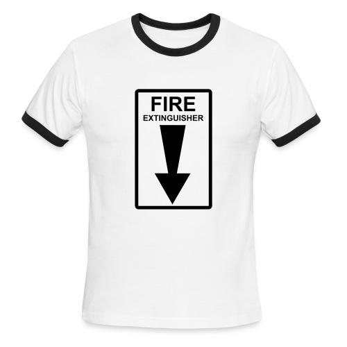 fireextinguisher t - Men's Ringer T-Shirt
