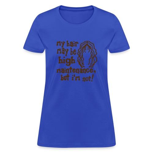 WUBT 'My Hair, High Maintenance, But I'm Not' Women's Standard Tee, Sky - Women's T-Shirt