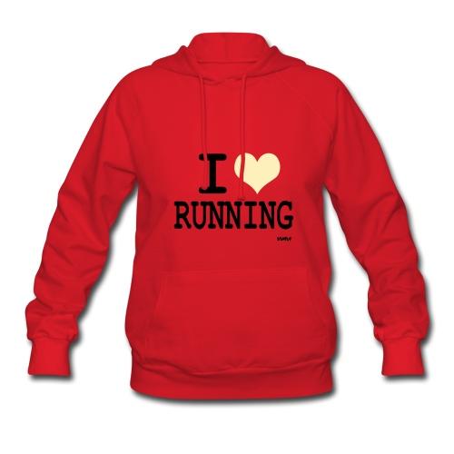 I love running red hoodie - Women's Hoodie