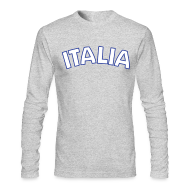Long Sleeve Shirts ~ Men's Long Sleeve T-Shirt by Next Level ~ ITALIA logo AA Long Sleeve T, Gray