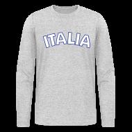 Long Sleeve Shirts ~ Men's Long Sleeve T-Shirt by American Apparel ~ ITALIA logo AA Long Sleeve T, Gray