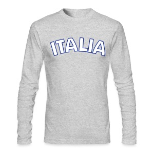 ITALIA logo AA Long Sleeve T, Gray - Men's Long Sleeve T-Shirt by Next Level
