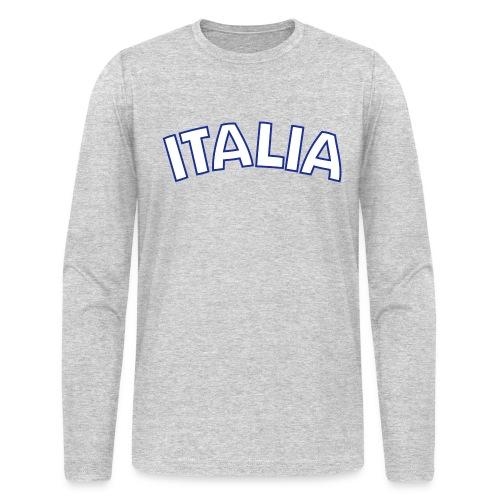 ITALIA logo AA Long Sleeve T, Gray - Men's Long Sleeve T-Shirt by Next Level