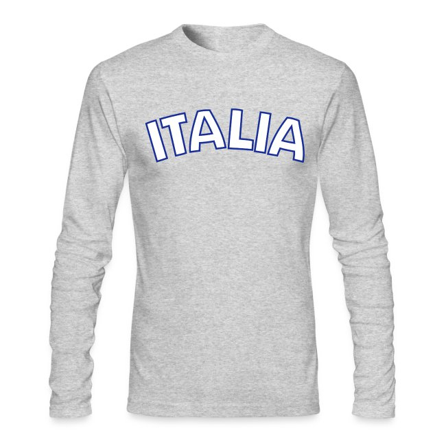 ITALIA logo AA Long Sleeve T, Gray