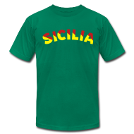 T-Shirts ~ Men's T-Shirt by American Apparel ~ SICILIA AA T, Green