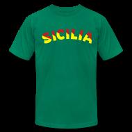T-Shirts ~ Men's T-Shirt by American Apparel ~ SICILIA AA T, Green