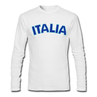 Long Sleeve Shirts ~ Men's Long Sleeve T-Shirt by Next Level ~ ITALIA logo AA Long Sleeve T, White