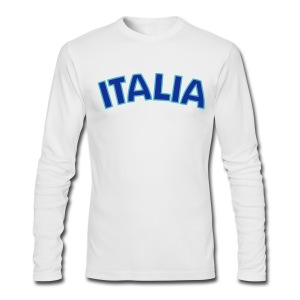 ITALIA logo AA Long Sleeve T, White - Men's Long Sleeve T-Shirt by Next Level