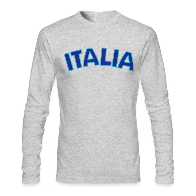 ITALIA logo AA Long Sleeve T, White