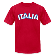 T-Shirts ~ Men's T-Shirt by American Apparel ~ ITALIA logo AA T, Red