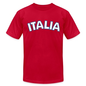 ITALIA logo AA T, Red - Men's T-Shirt by American Apparel