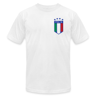 T-Shirts ~ Men's T-Shirt by American Apparel ~ 4 Star Italia Shield Logo AA T, White