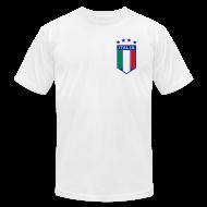 T-Shirts ~ Men's T-Shirt by American Apparel ~ 4 Star Italia Shield Logo AA T, White