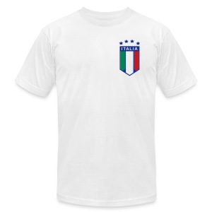 4 Star Italia Shield Logo AA T, White - Men's T-Shirt by American Apparel