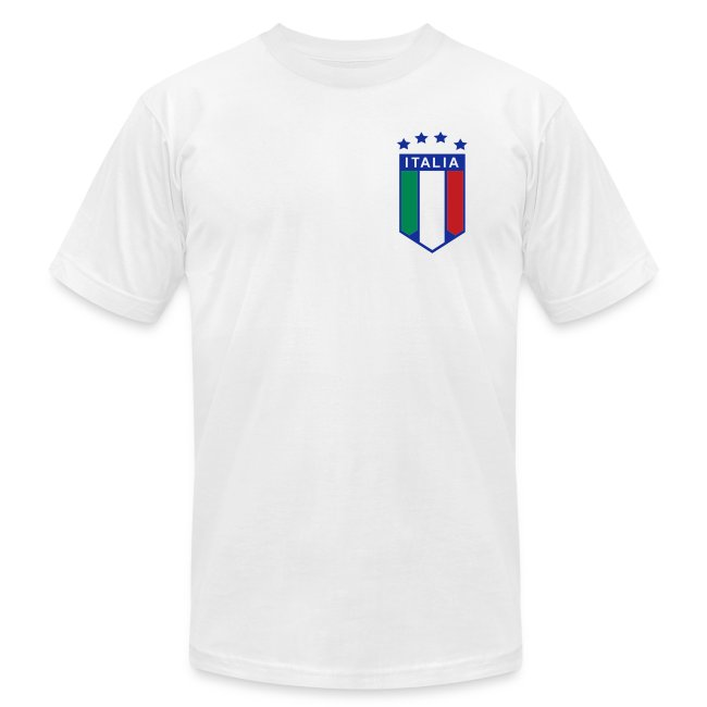 4 Star Italia Shield Logo AA T, White