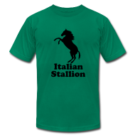 T-Shirts ~ Men's T-Shirt by American Apparel ~ Italian Stallion AA T, Yellow