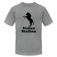 T-Shirts ~ Men's T-Shirt by American Apparel ~ Italian Stallion AA T, Slate
