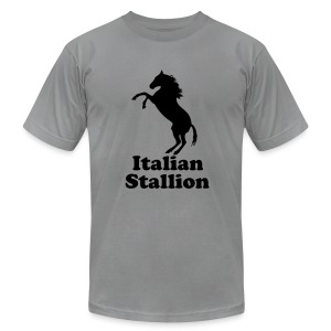 Italian Stallion AA T, Slate - Men's T-Shirt by American Apparel