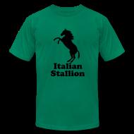 T-Shirts ~ Men's T-Shirt by American Apparel ~ Italian Stallion AA T, Orange