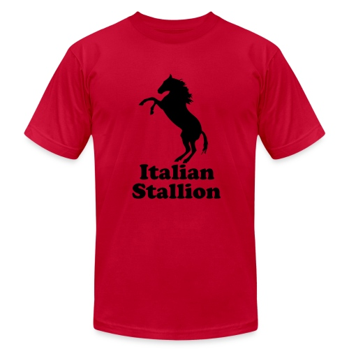 Italian Stallion AA T, Orange - Men's T-Shirt by American Apparel
