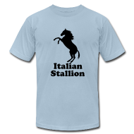 T-Shirts ~ Men's T-Shirt by American Apparel ~ Italian Stallion AA T, Light Blue