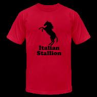 T-Shirts ~ Men's T-Shirt by American Apparel ~ Italian Stallion AA T, Light Blue