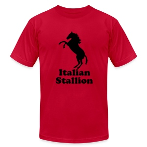 Italian Stallion AA T, Light Blue - Men's T-Shirt by American Apparel