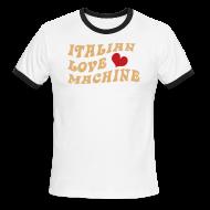 T-Shirts ~ Men's Ringer T-Shirt ~ Italian Love Machine AA Ringer T, Chocolate & Tan