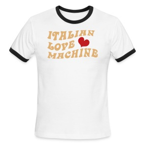 Italian Love Machine AA Ringer T, Chocolate & Tan - Men's Ringer T-Shirt