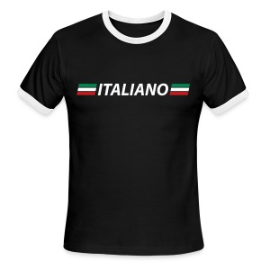 ITALIANO AA RInger T, Navy - Men's Ringer T-Shirt