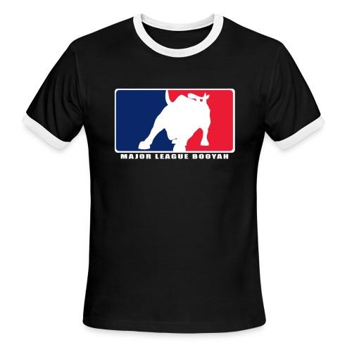 Major League Booyah Lightweight Men's AA Ringer T-Shirt - Men's Ringer T-Shirt