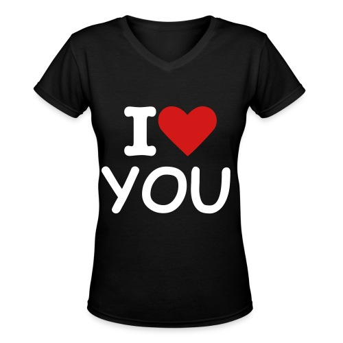 I Heart You Shirt - Women's V-Neck T-Shirt