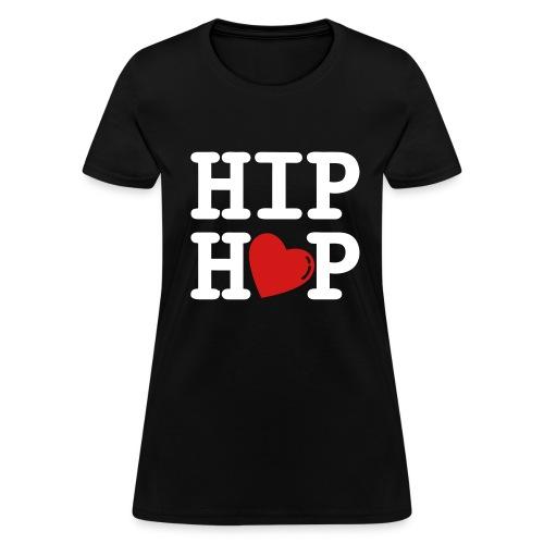 hip hop heart- black - Women's T-Shirt