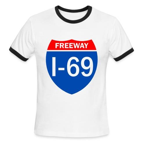Freeway I-69 Ringer - Men's Ringer T-Shirt