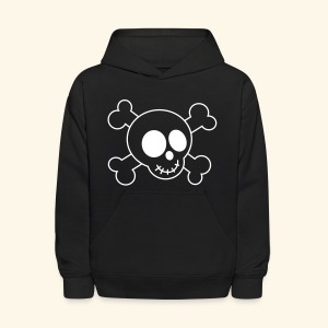Kids Skull and Crossbones Halloween Hoodie - Kids' Hoodie