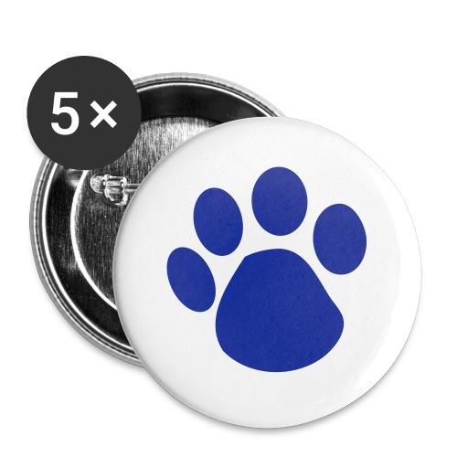 blue pet footprint - Large Buttons