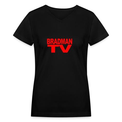 BRADMANTV LOGO Girls - Women's V-Neck T-Shirt