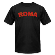 T-Shirts ~ Men's T-Shirt by American Apparel ~ ROMA T, Black