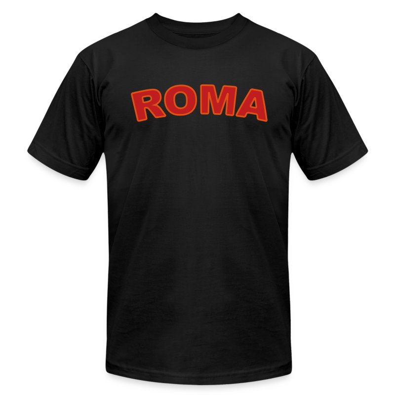 ROMA T, Black - Men's T-Shirt by American Apparel