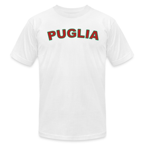 PUGLIA Region T, White - Men's Fine Jersey T-Shirt