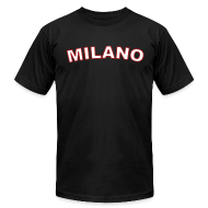 T-Shirts ~ Men's T-Shirt by American Apparel ~ MILANO Region T, Black