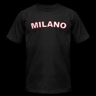 T-Shirts ~ Men's T-Shirt by American Apparel ~ MILANO Region T, Black