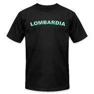 T-Shirts ~ Men's T-Shirt by American Apparel ~ LOMBARDIA Region T, Black
