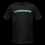 T-Shirts ~ Men's T-Shirt by American Apparel ~ LOMBARDIA Region T, Black