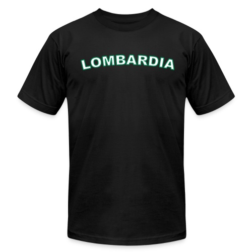 LOMBARDIA Region T, Black - Men's Fine Jersey T-Shirt