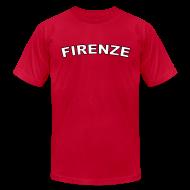 T-Shirts ~ Men's T-Shirt by American Apparel ~ FIRENZE Region T, Red